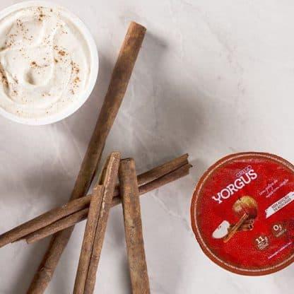Iogurte tipo Grego 0% Gordura Maçã Com Canela Yorgus (12 Unidades)
