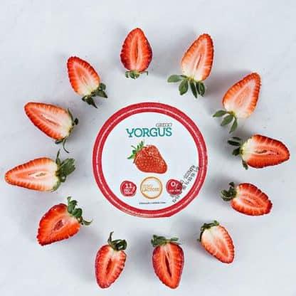 Iogurte tipo Grego Morango 0% Gordura ZERO LACTOSE Yorgus