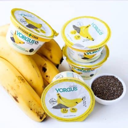 Iogurte Grego Yorgus Banana com Chia Desnatado