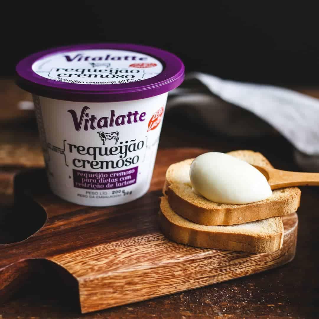 Queijo requeijão cremoso Vitalatte para dietas com restrição de lactose