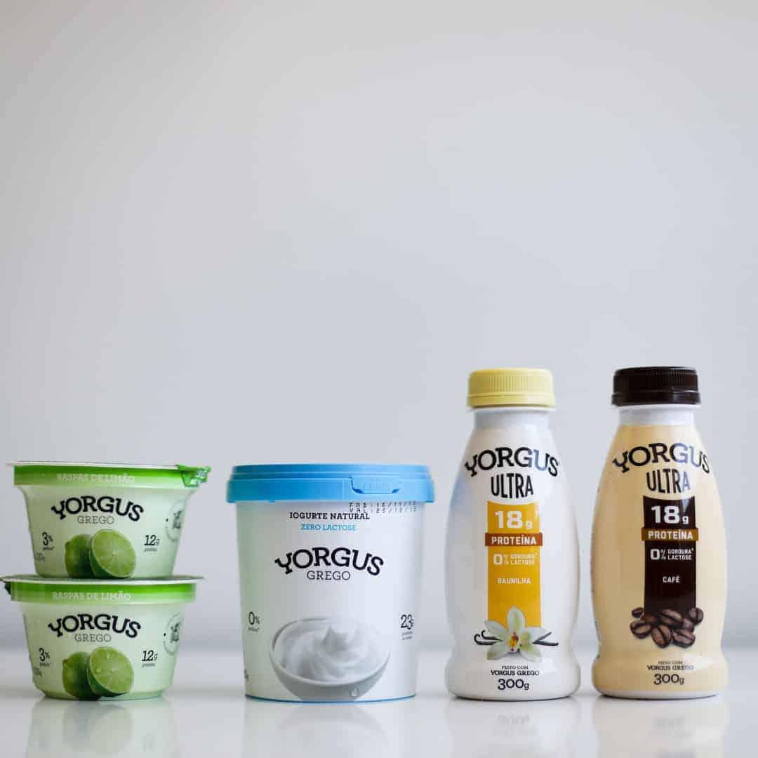 Novos Lançamentos Yorgus: Iogurte Natural Zero Lactose (500 g), Yorgus Grego Raspas de Limão, Yorgus Ultra Baunilha e Yorgus Ultra Café