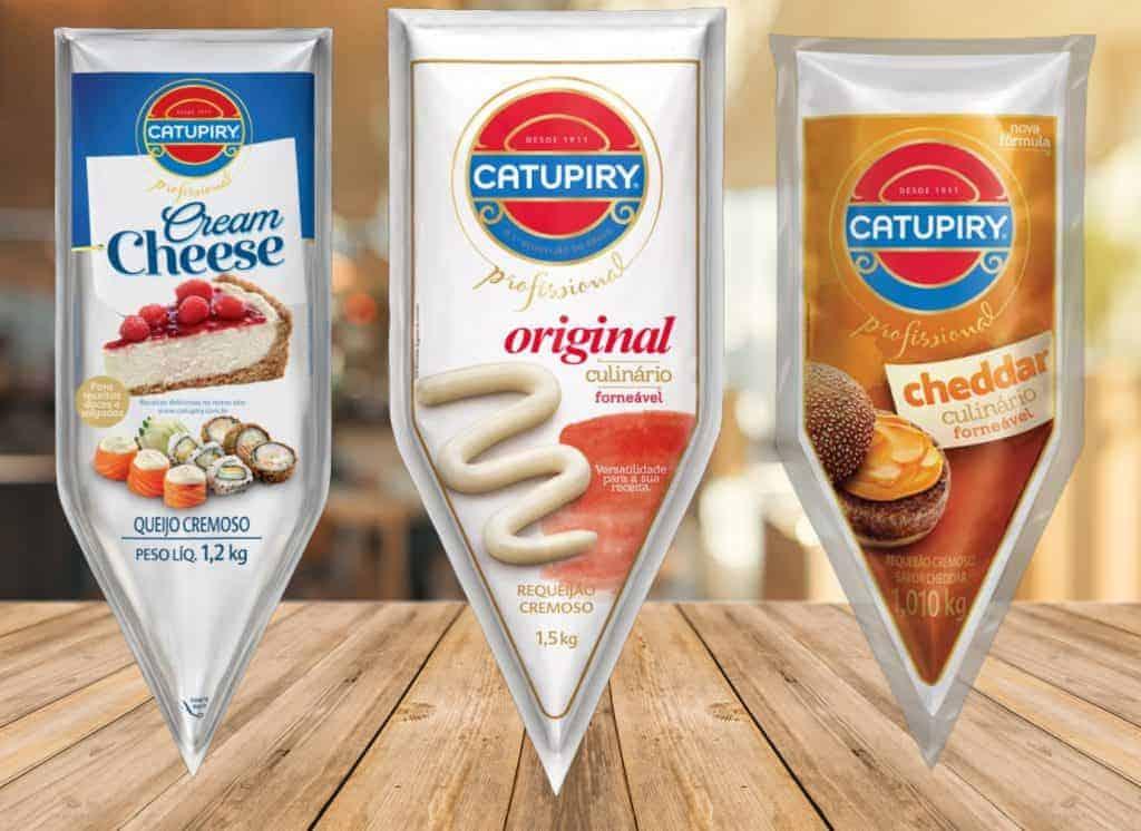 Novidades Catupriy na Serra do Tucano: Requeijão cremoso original, Cream Cheese e Requeijao cremoso Cheddar.