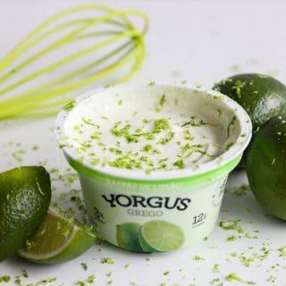 Iogurte Grego Integral com Raspas de Limão Yorgus (12 Unidades)