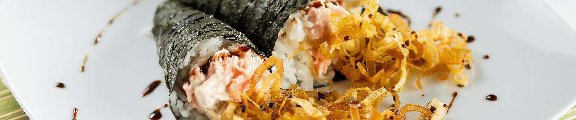 Poro Maki Sushi com Cream Cheese Catupiry