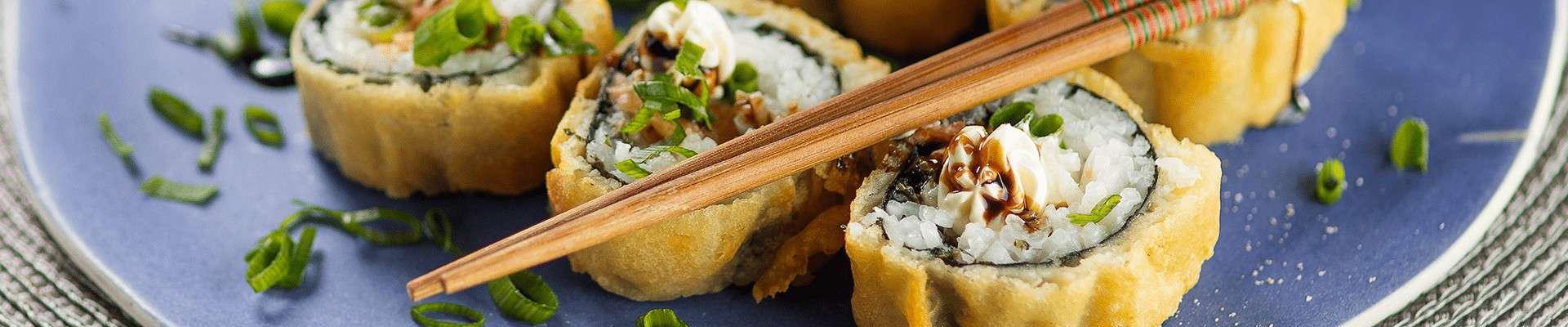 Hot Roll Maki Sushi com Cream Cheese Catupiry
